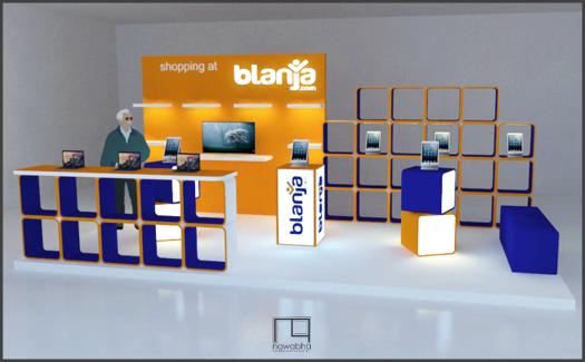 Desain Booth Blanja.com 1