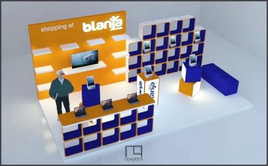 Desain Booth Blanja.com 2