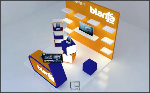 Desain Booth Blanja.com 3