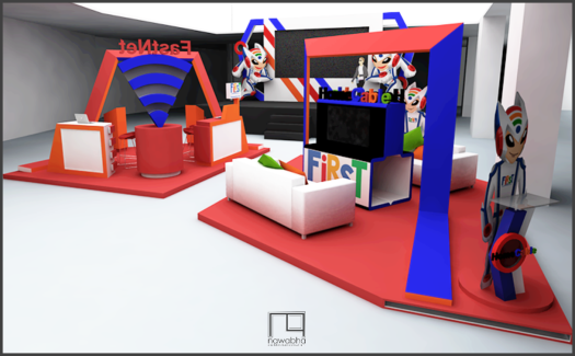 Desain Booth First Media 3