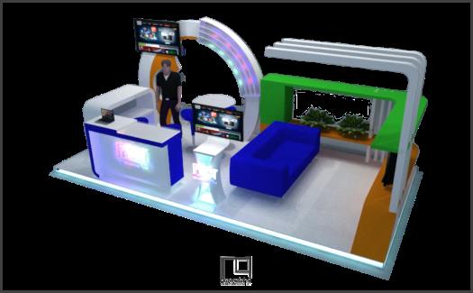 Desain Booth Telkomsel 2