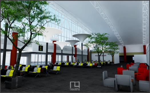 Interior Bandara Supadio Pontianak 1
