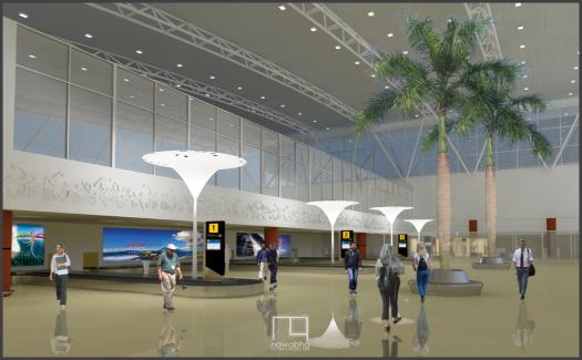 Interior Bandara Supadio Pontianak 4