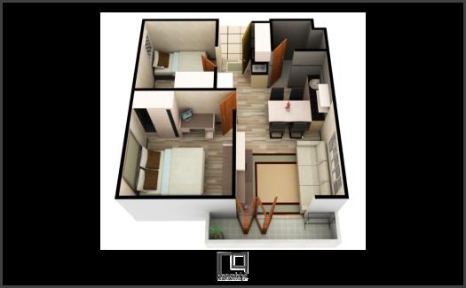 Kamar Apartemen Gateaway Pasteur 1