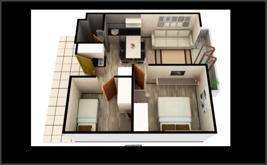 Kamar Apartemen Gateaway Pasteur 3