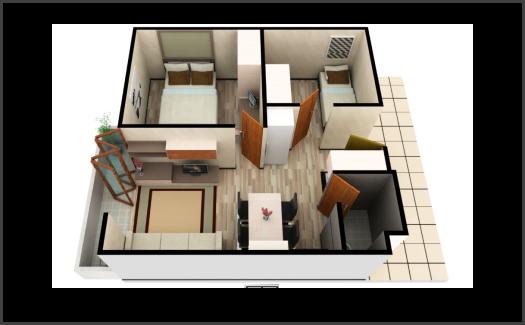Kamar Apartemen Gateaway Pasteur 4