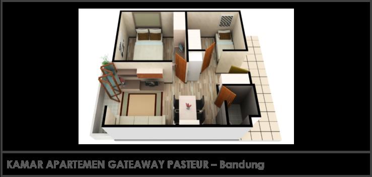 Kamar Apartemen Gateaway Pasteur
