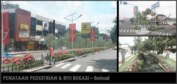 Penataan Pedestrian dan RTH Bekasi